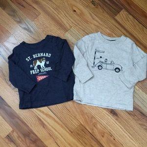 Set of 2 Janie & Jack Baby Boy T-shirts.